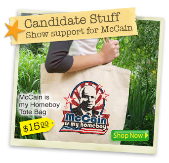 Candidate Stuff, McCain T-Shirts, stickers, buttons and gifts